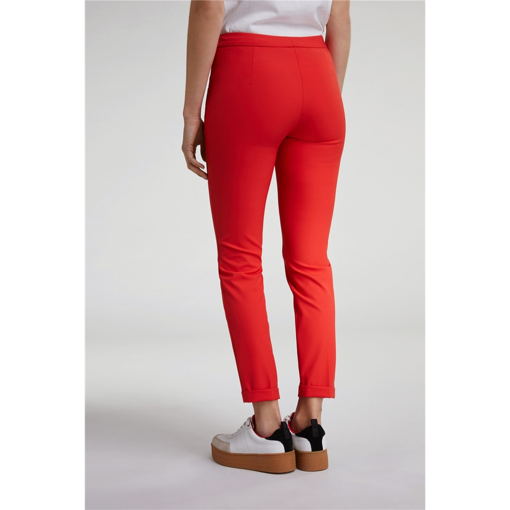 New 2020 Oui Sporty-Chic Trousers - Scarlet
