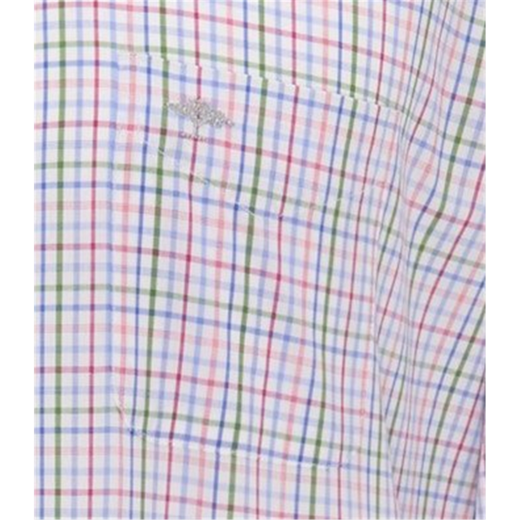 Fynch Hatton Supersoft Cotton Shirt - Blossom Blue Check