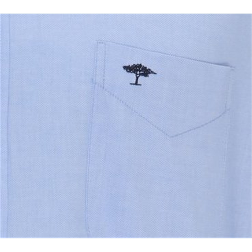 New 2020 Fynch Hatton Soft Compact Cotton Shirt - Light Blue