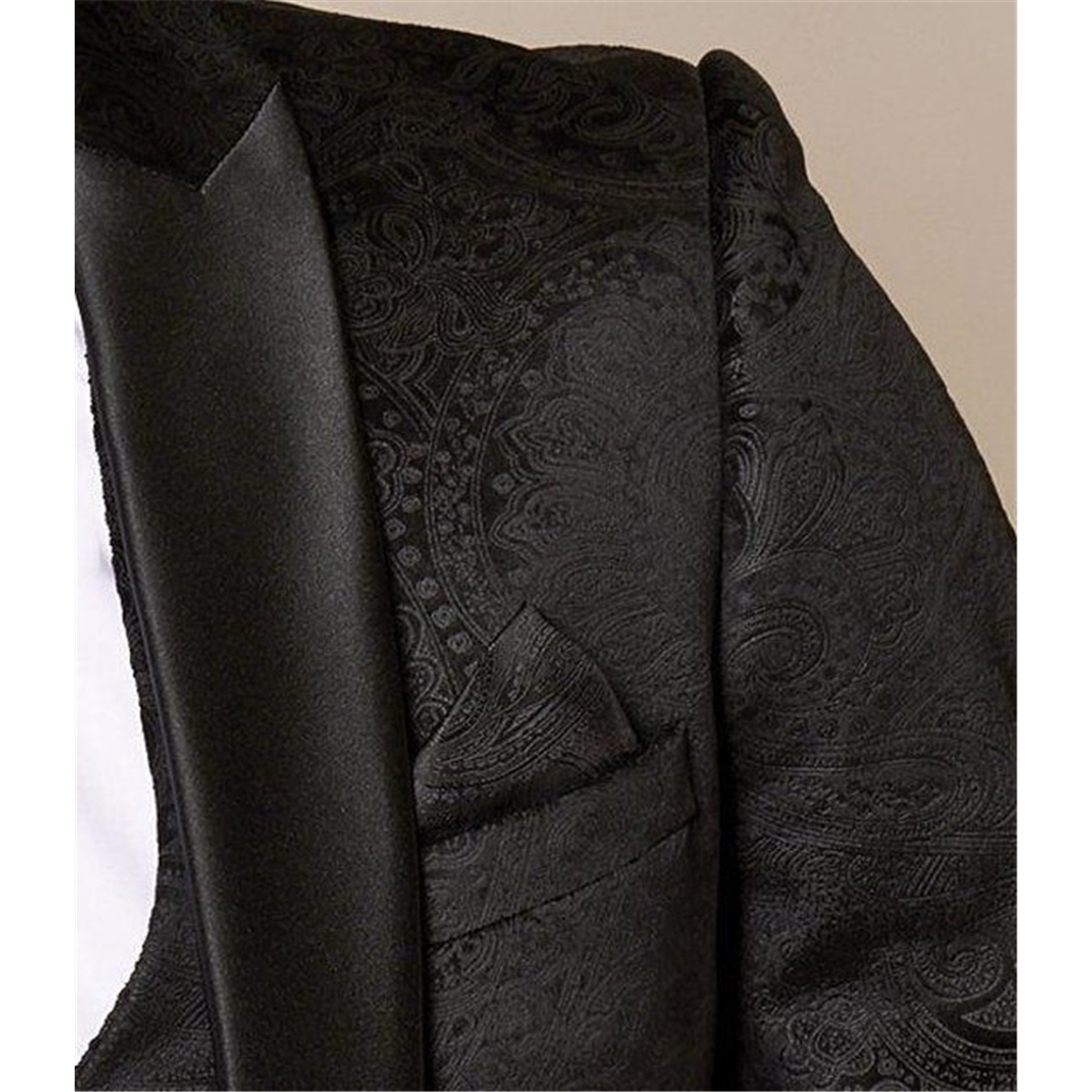 Marc Darcy Simon Black Velvet 3 Piece Suit