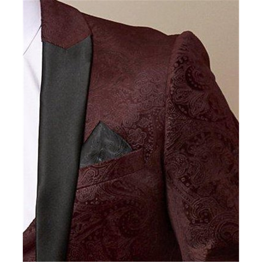 Marc Darcy Simon Wine Velvet 3 Piece Suit