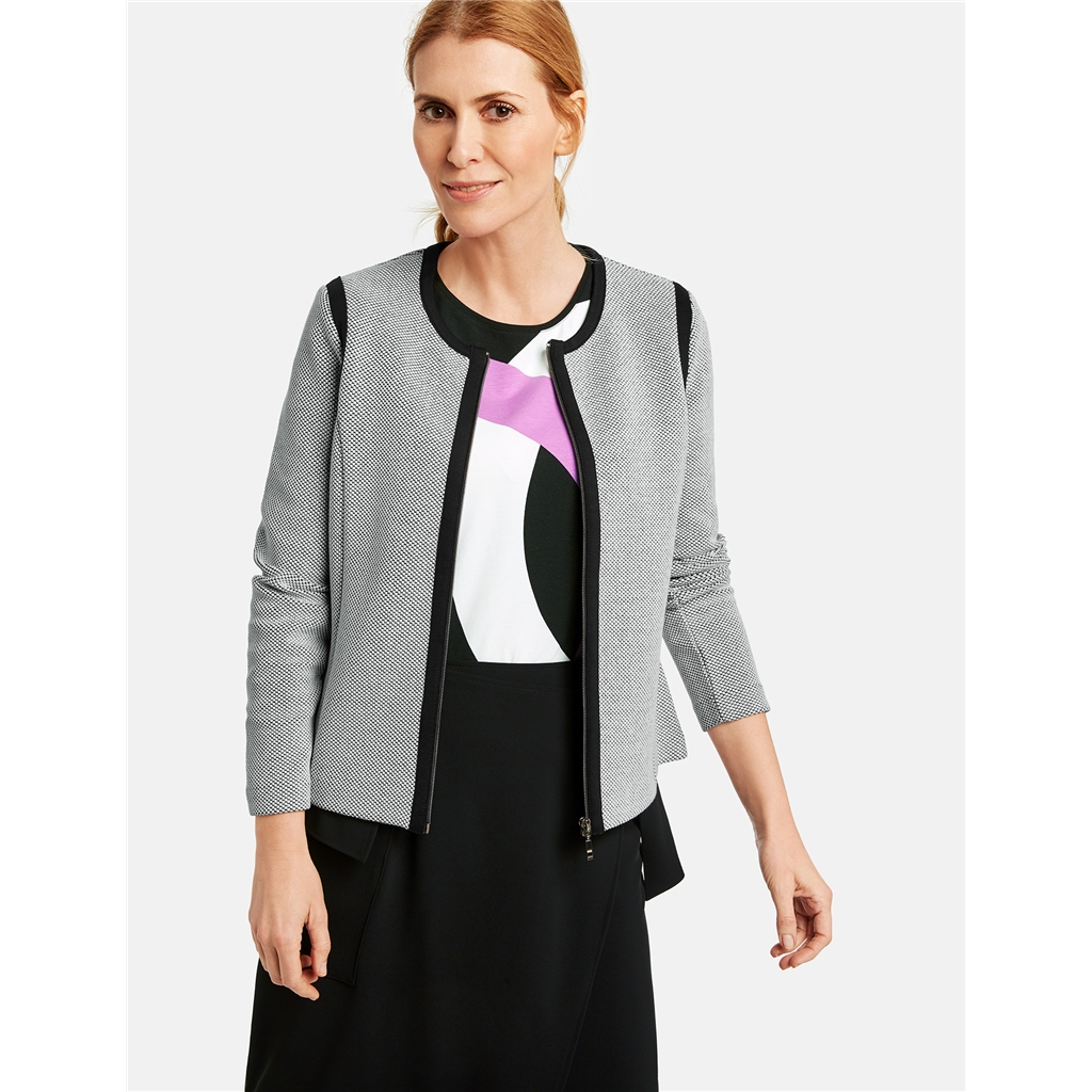 New 2020 Gerry Weber Two-Tone Jacket - Black/White