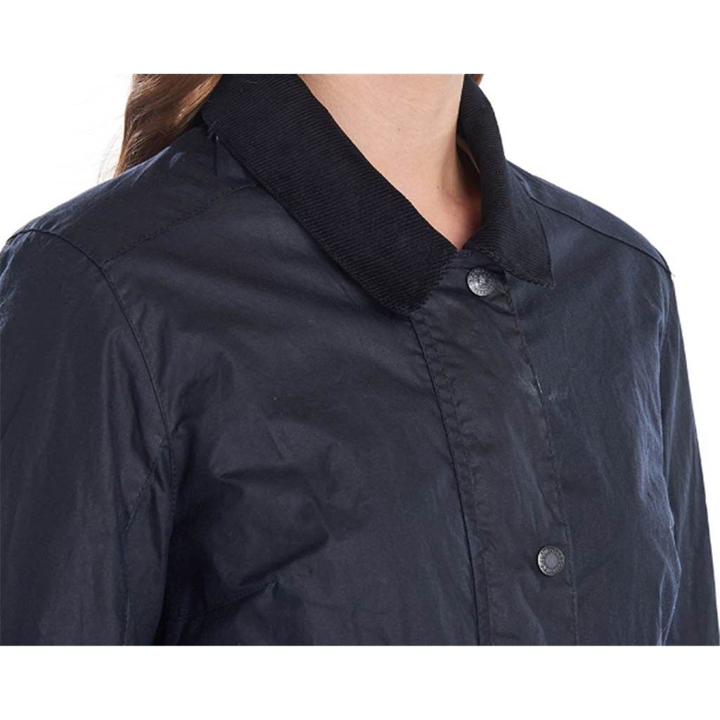 New 2020 Barbour Marsh Waxed Cotton Jacket - Navy