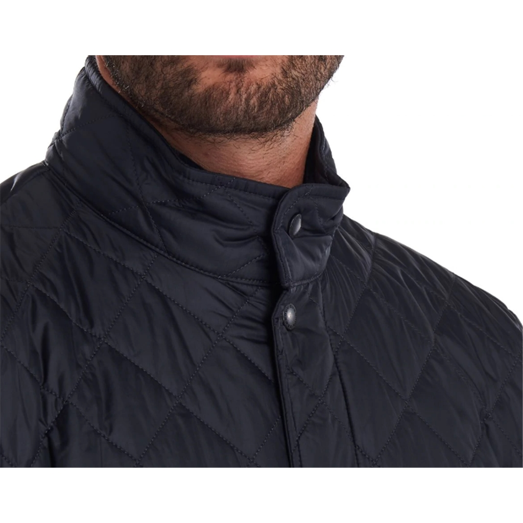New 2020 Barbour Men's Flyweight Chelsea Quilted Jacket - Navy