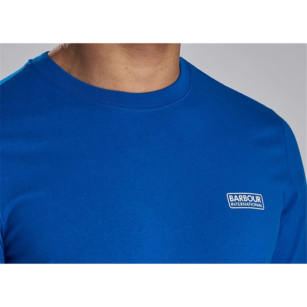 New 2020 Barbour International Men's Small Logo T-Shirt - Neela Blue