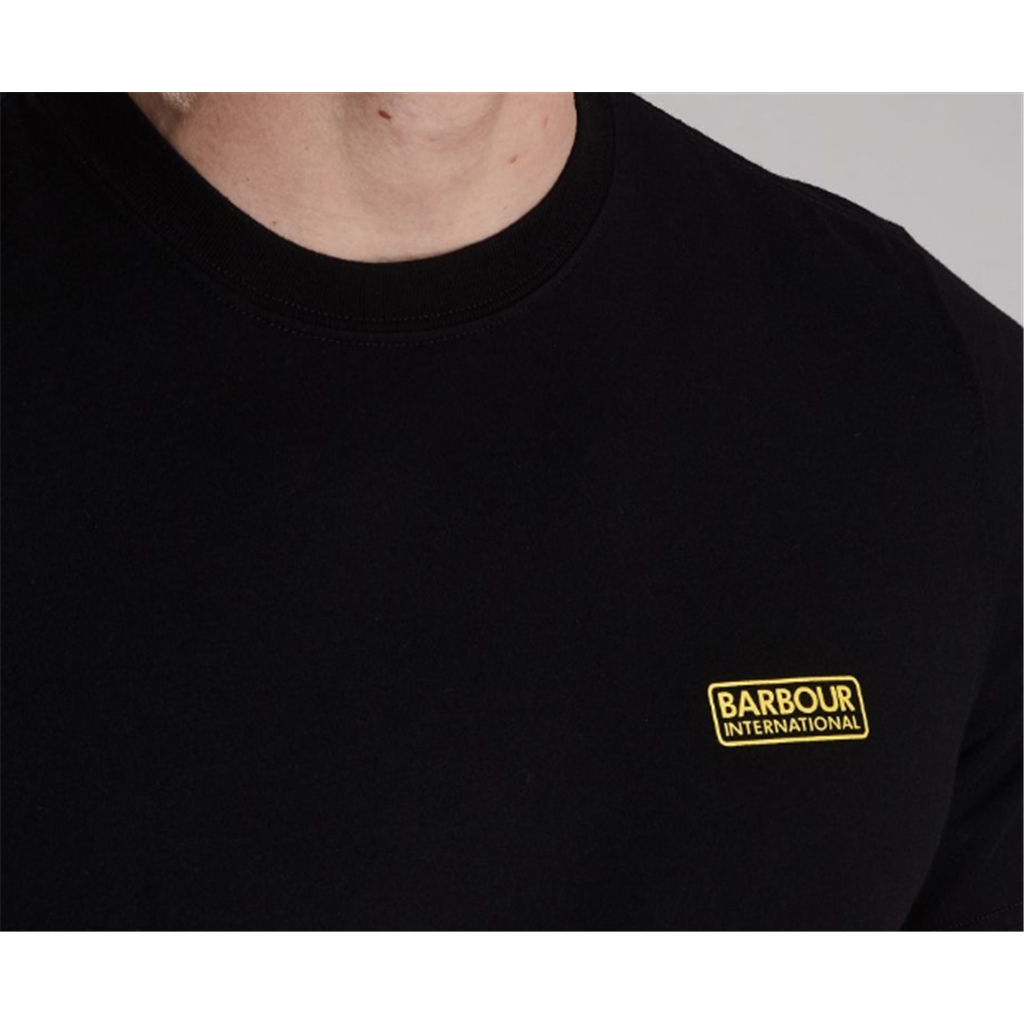 New 2020 Barbour International Men's Small Logo T-Shirt - Black