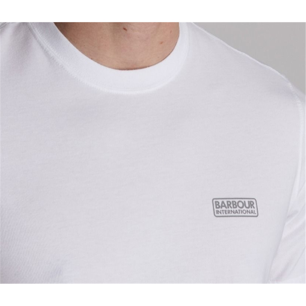 New 2020 Barbour International Men's Small Logo T-Shirt - White