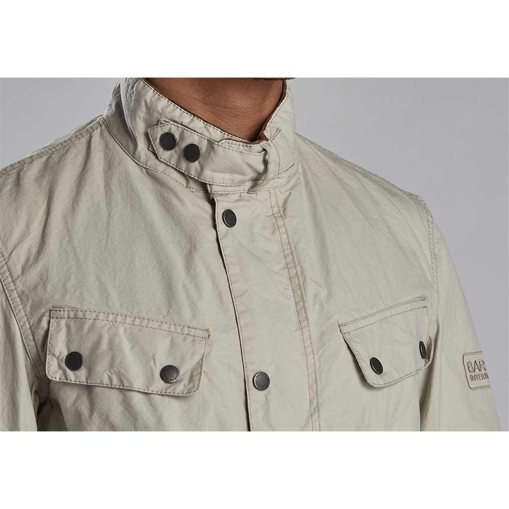 New 2020 Barbour International Men's Coloured Duke Casual Jacket - Clay