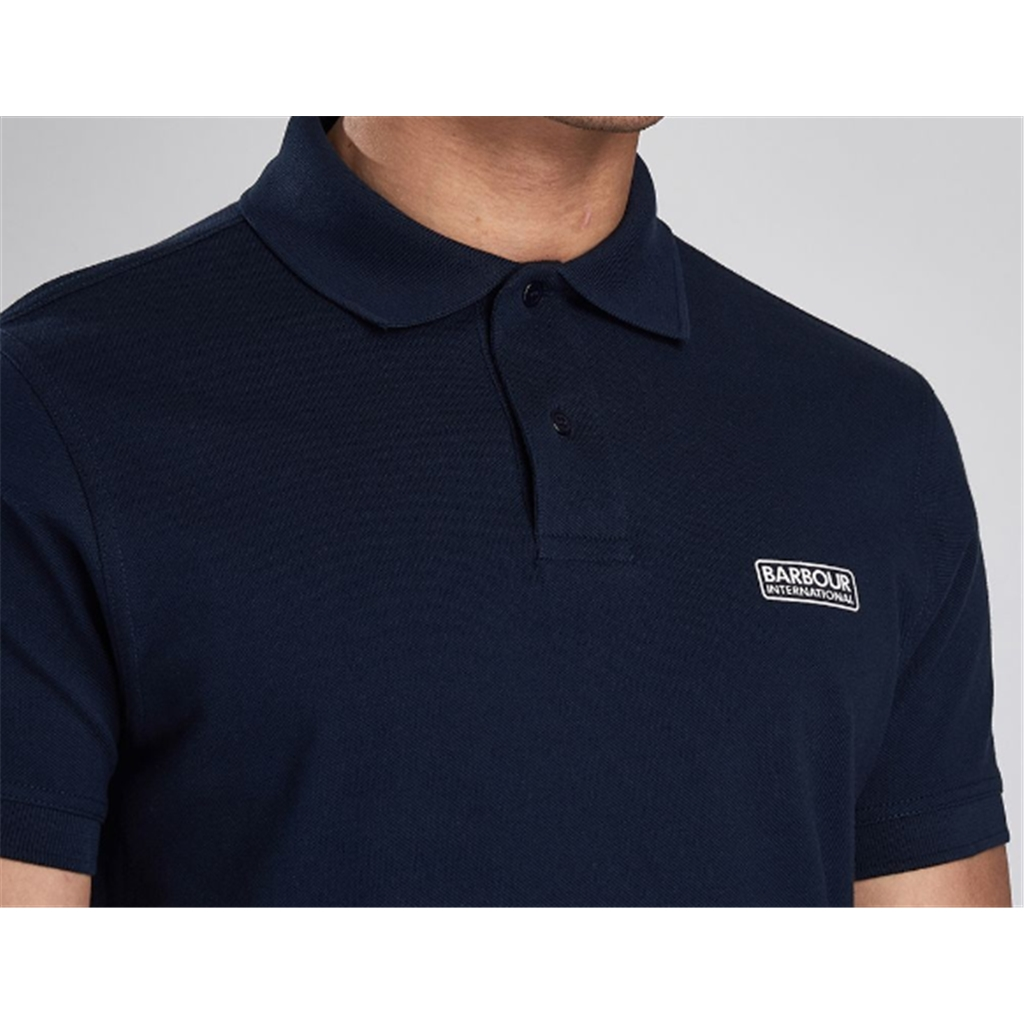 New 2020 Barbour International Men's Essential Pique Polo Shirt - International Navy