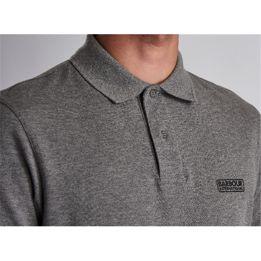 New 2020 Barbour International Men's Essential Pique Polo Shirt - Anthracite