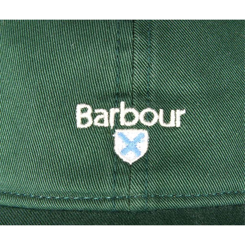 New 2021 Barbour Cotton Sports Cap - Cascade - Racing Green