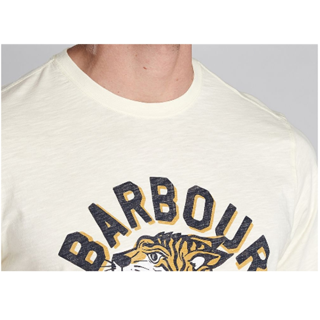 New 2020 Barbour International Men's Device T-Shirt - Light Yellow