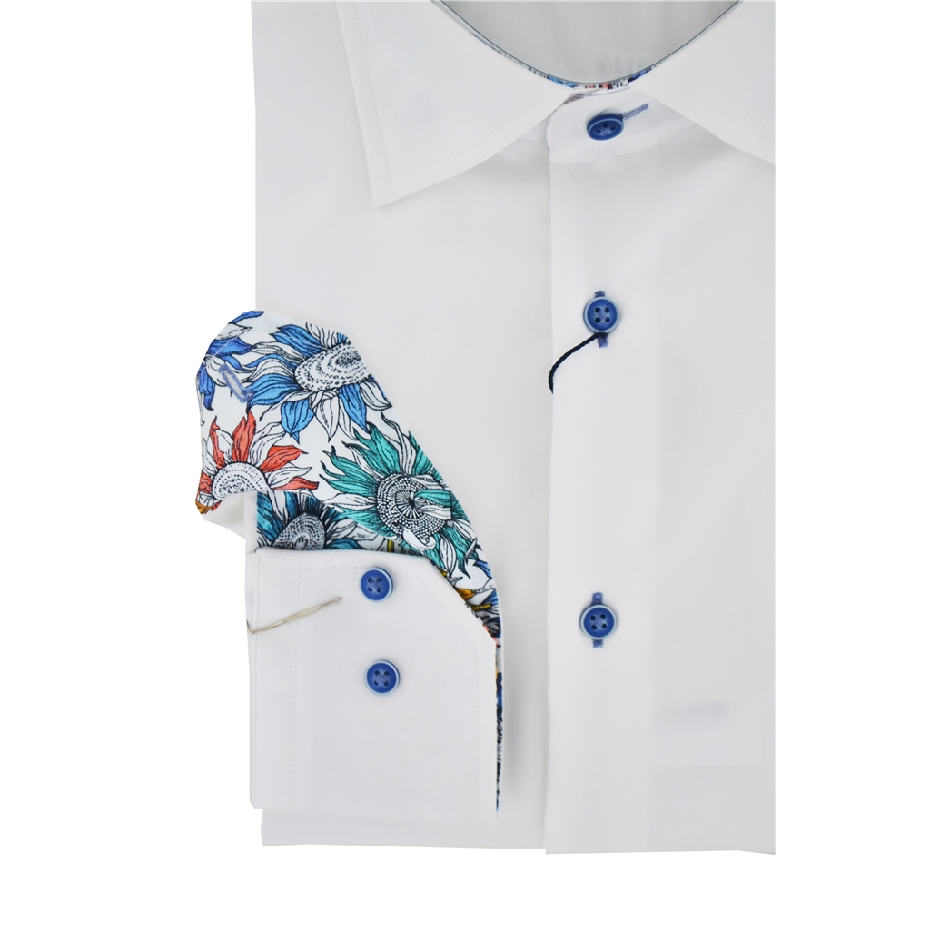 New 2020  Giordano Long Sleeve Shirt - White Contrast Collar