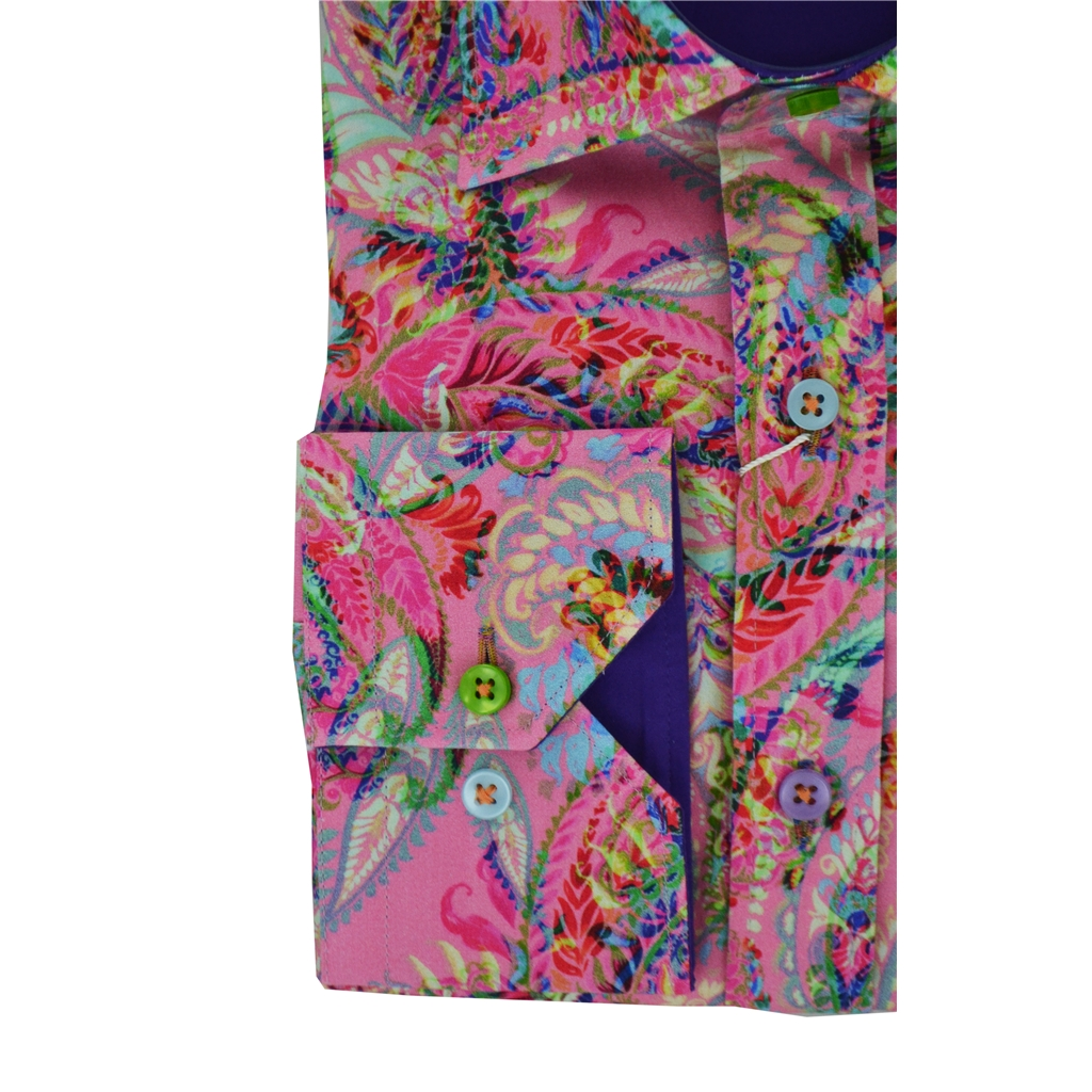 Claudio Lugli Patterned Leaves Shirt - Pink