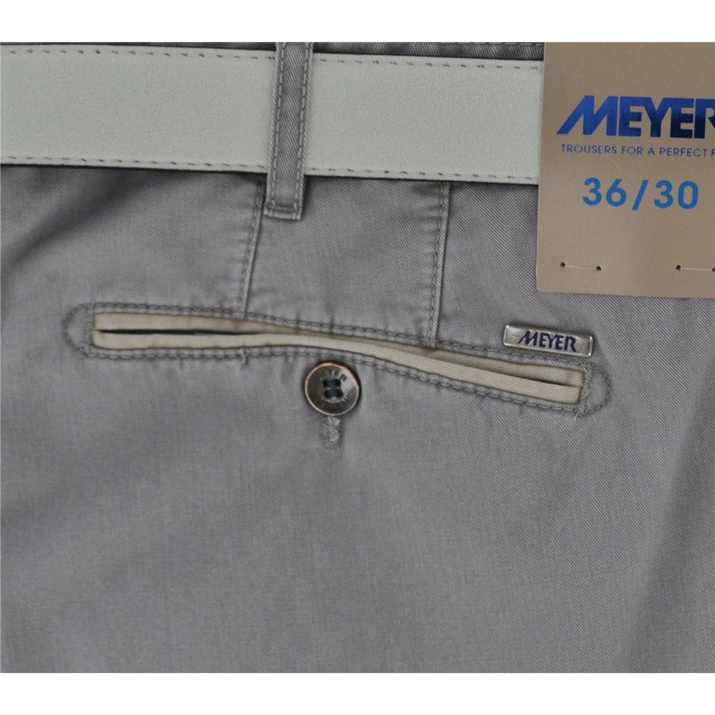 New Summer Meyer Cotton Trouser - Grey - New York 5001-31