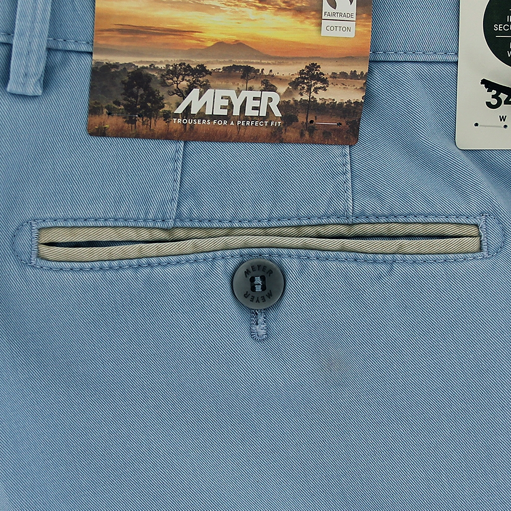 New Summer Meyer Cotton Trouser - Sky - New York 5001-14