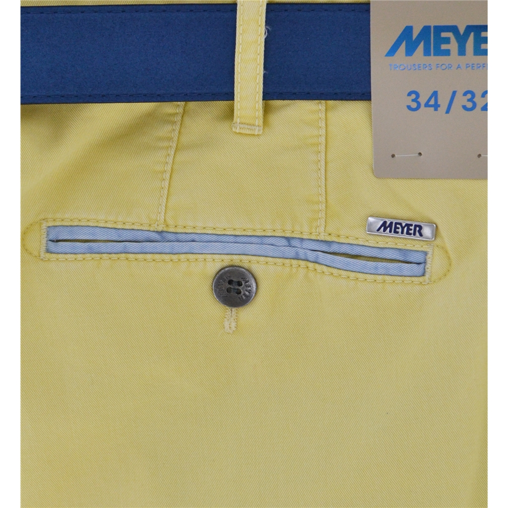 New Summer Meyer Cotton Trouser - Lemon - New York 5001-42