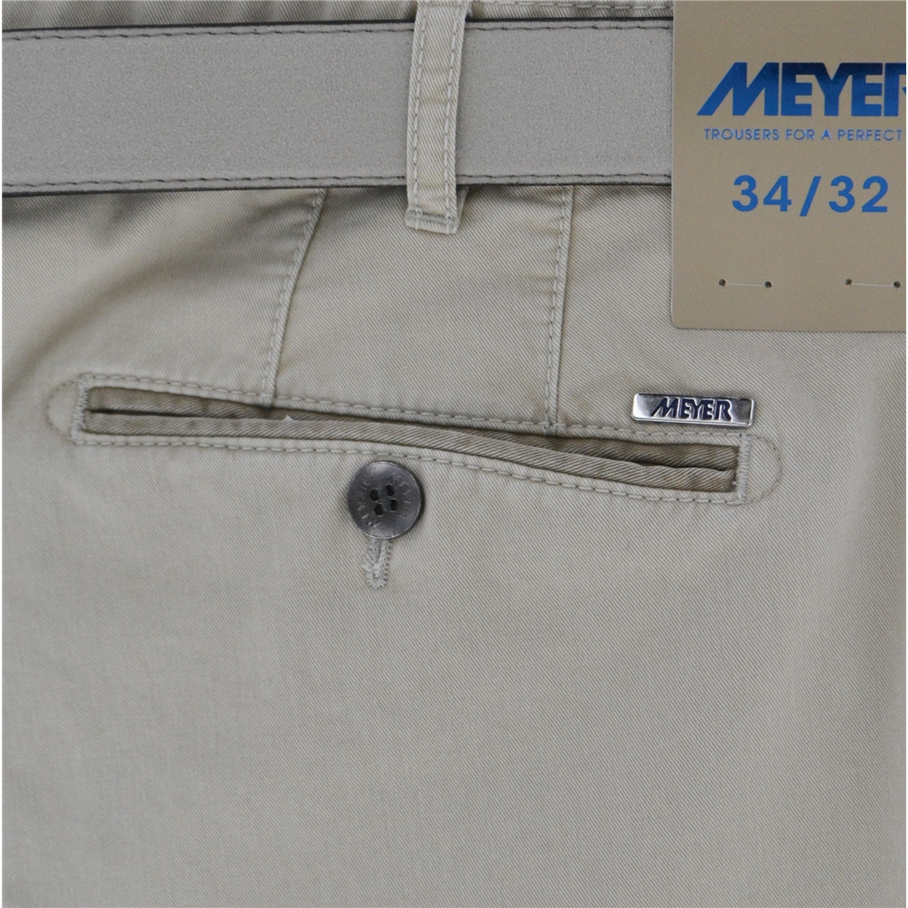 New Summer Meyer Cotton Trouser - Beige - New York 5001-32