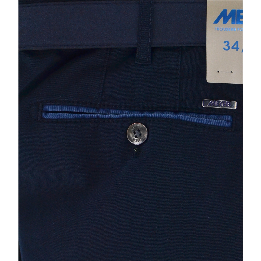 New Summer Meyer Cotton Trouser - Navy - New York 5001 20