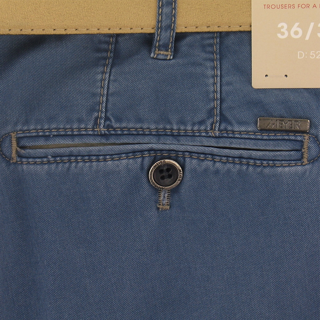Meyer Summer Cotton Trouser - Blue - New York 5001 17