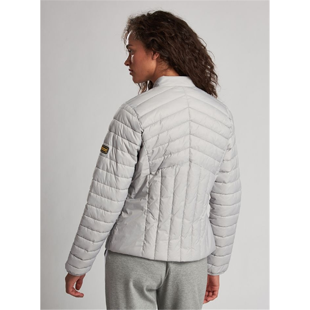 New 2020 Barbour International Keeper Quilt - Ice White