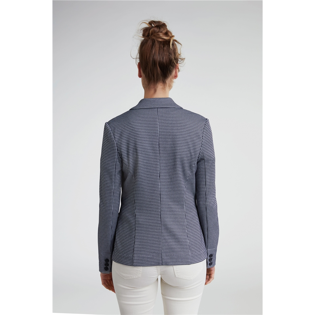 New 2020 Oui Houndstooth Blazer -Navy