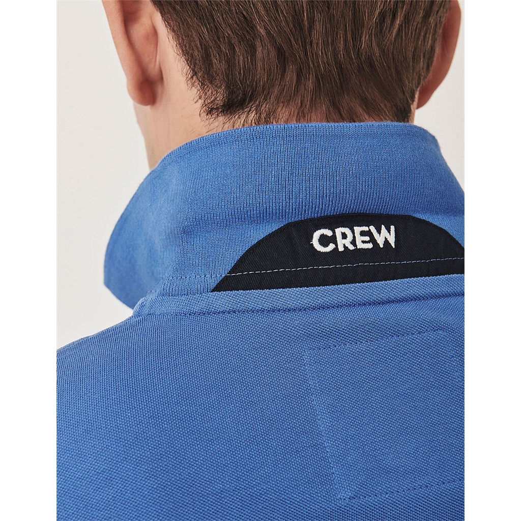 Crew Men's Pique Polo - Blue Shadow