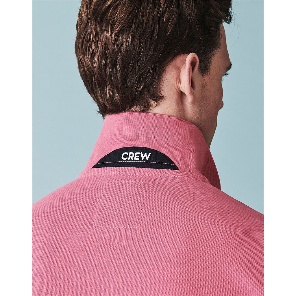Crew Men's Pique Polo - Rose