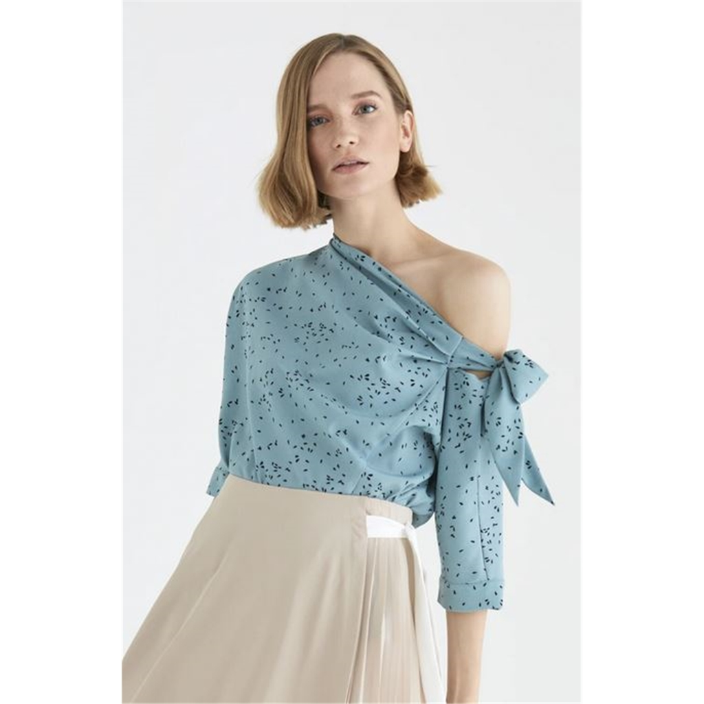 New Paisie 2020 Carnaby Tie Shoulder Top - Teal