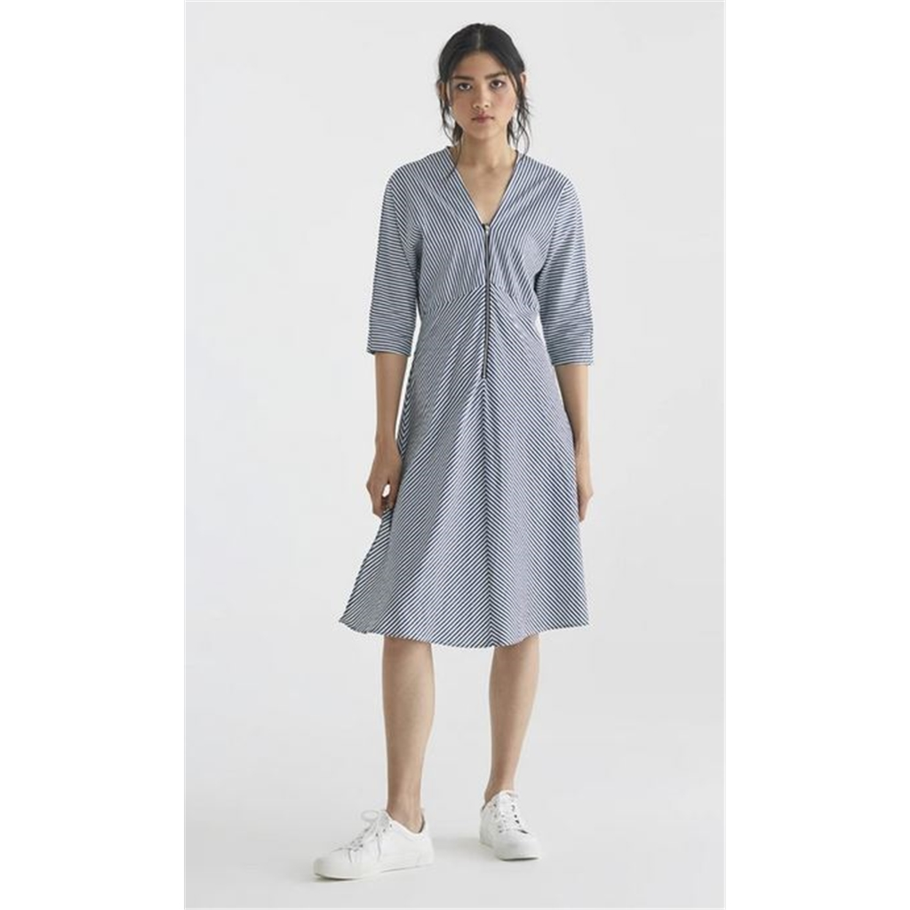 New Paisie 2020 Pam Striped Dress - Blue