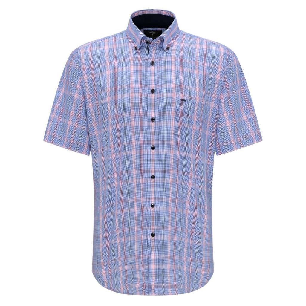 New 2020 Fynch Hatton Short Sleeve Shirt - Watermelon Caribbean