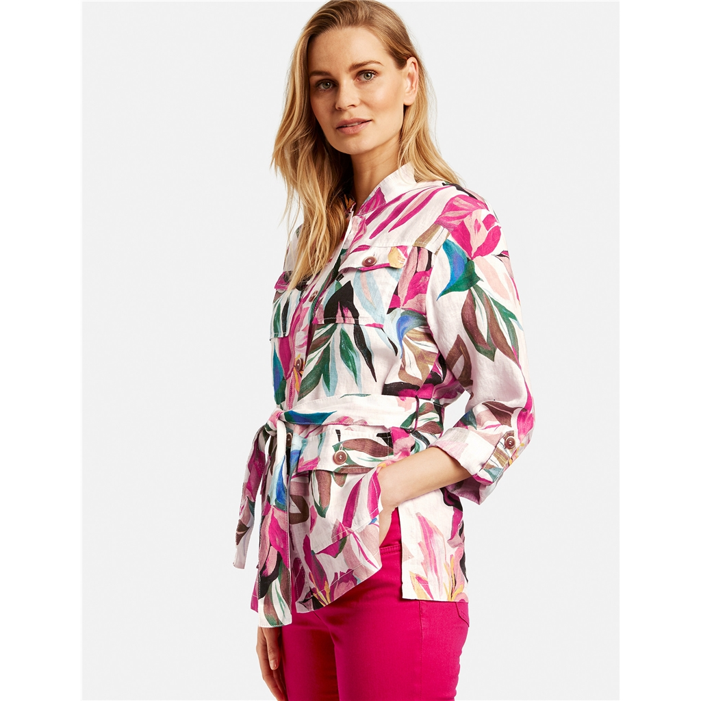 New 2020 Gerry Weber Linen Shirt Blazer - Ecru