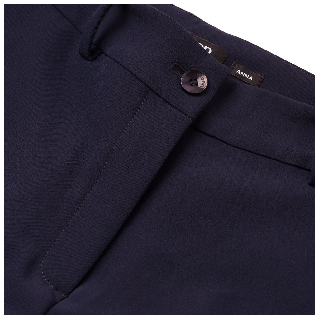 Olsen Cropped Trouser With Belt - Navy