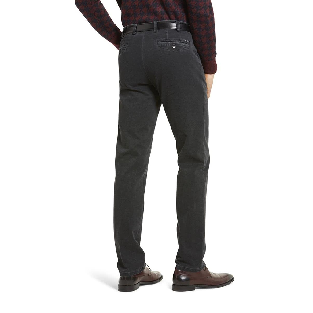New Meyer Autumn Cotton Trouser - Charcoal - Chicago 5568 08