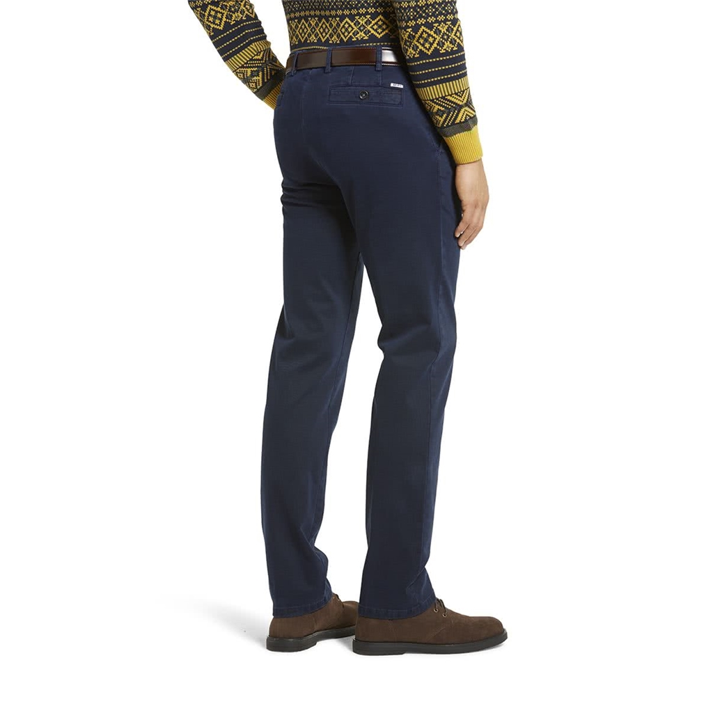 New Meyer Autumn Cotton Trouser - Navy - 5548 18