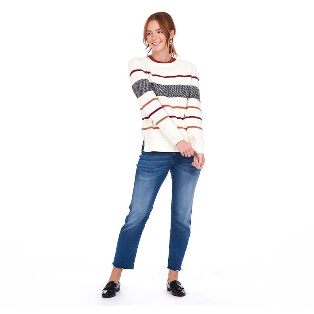 New 2020 Barbour Paddle Sweater - Off White