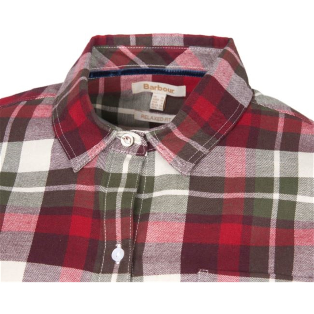 New 2020 Barbour Hedley Shirt - Blackberry check