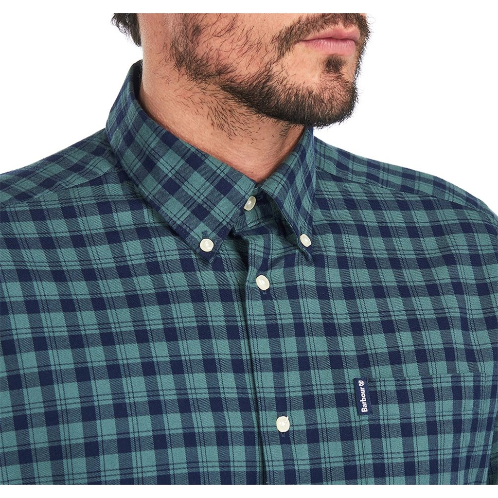 Barbour Country Check 14 Tailored Shirt - Green