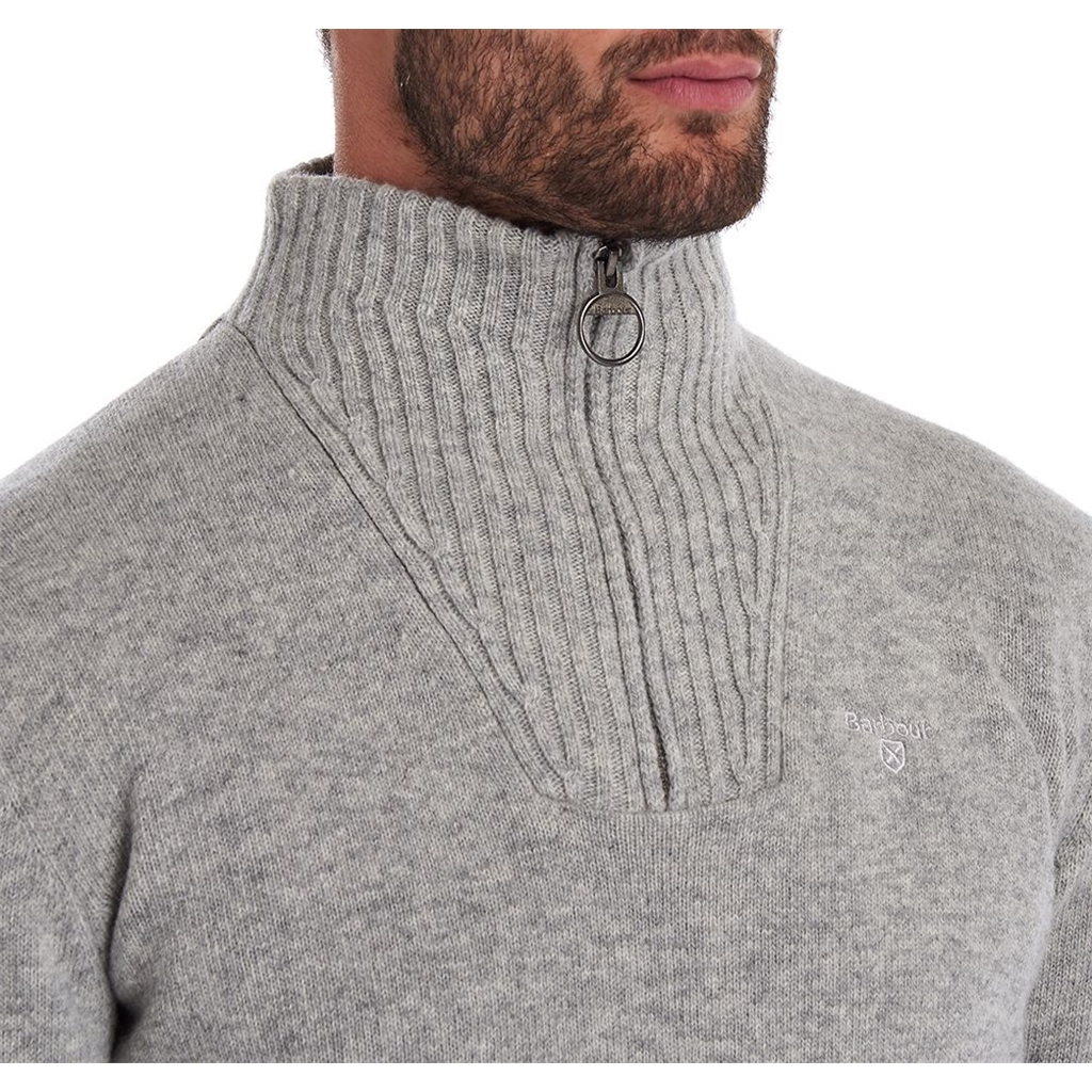 New 2020 Barbour Lambswool Half-Zip - Grey