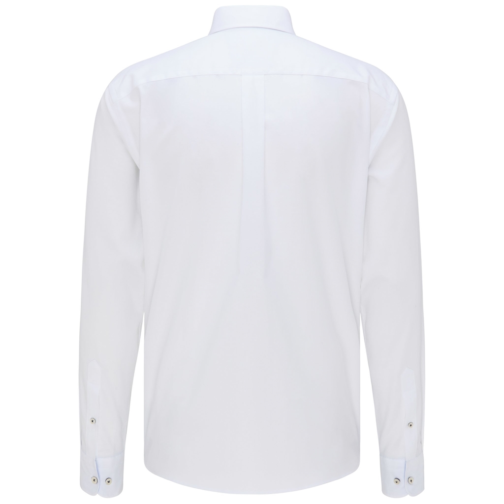 Fynch Hatton Soft Compact Cotton Shirt - White