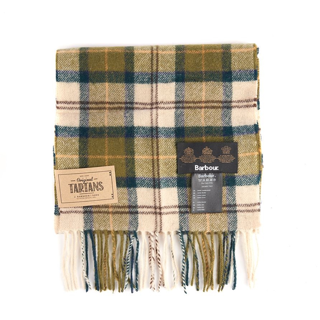 New 2020 Barbour Unisex Lambswool Scarf - Green