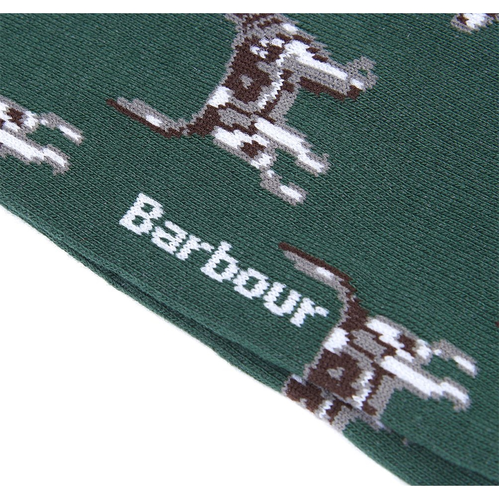 Barbour Mens Dog Socks - Green