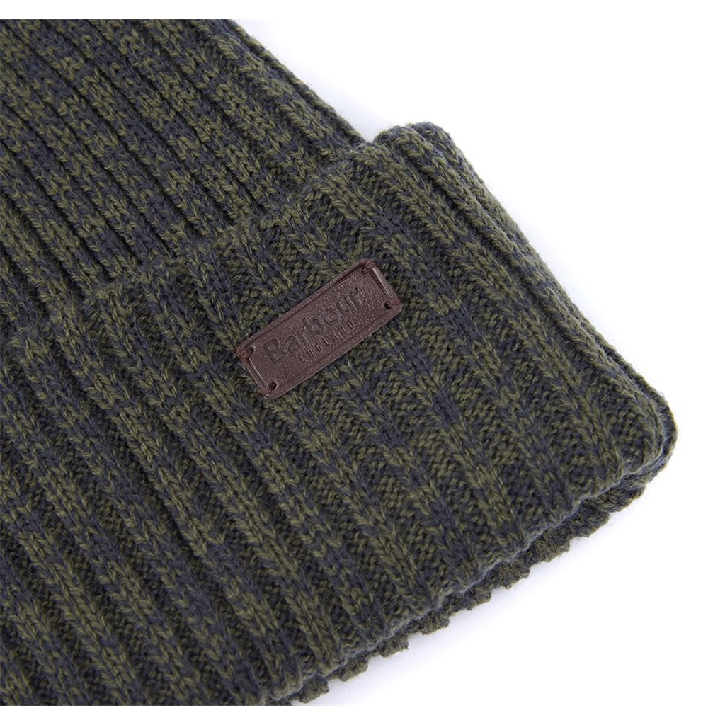 New 2020 Barbour Mens Crimdon Beanie and Scarf Set - Olive