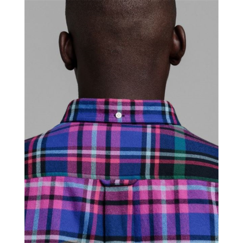 New 2020 Gant Regular Fit Flannel Shirt - Multi