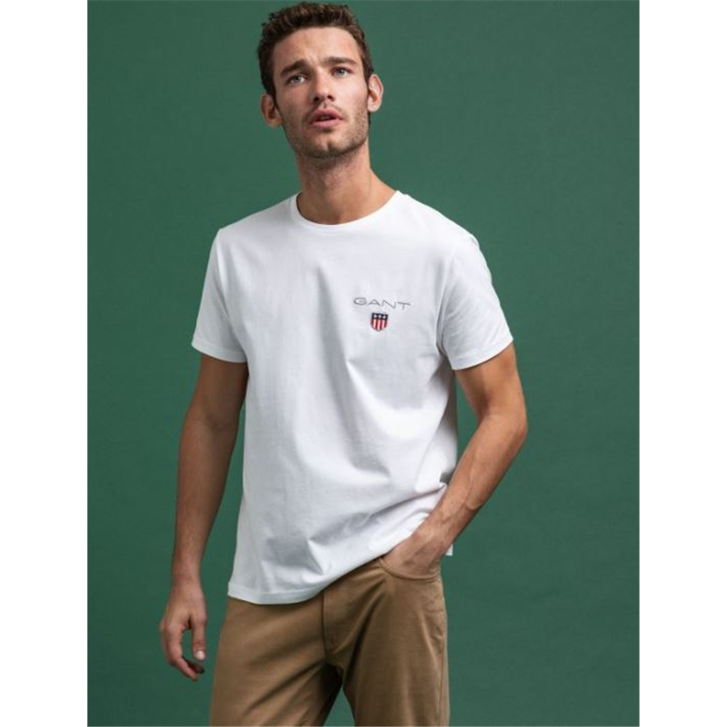 Gant Medium Shield T-Shirt - White