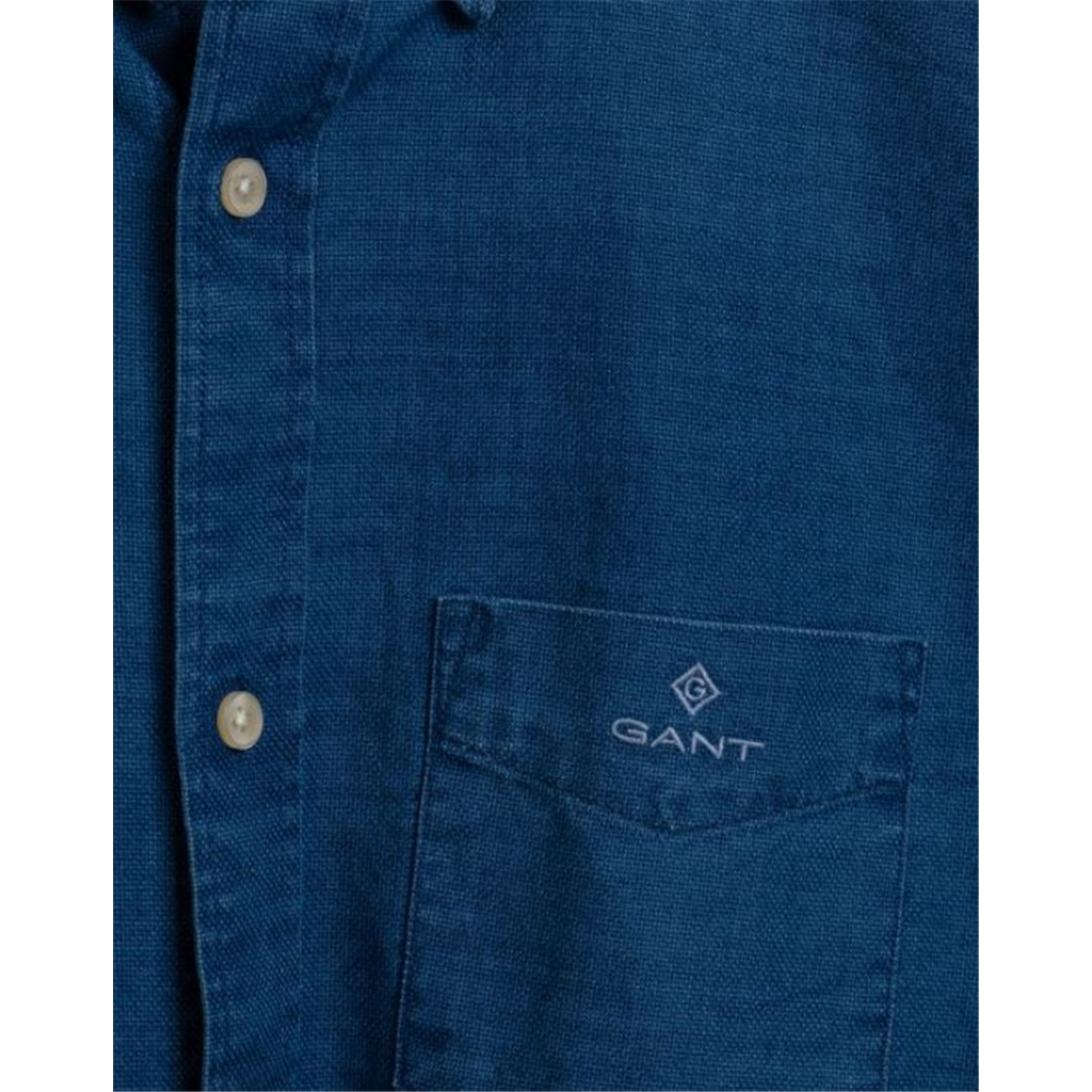 New 2020 Gant Royal Oxford Shirt - Indigo