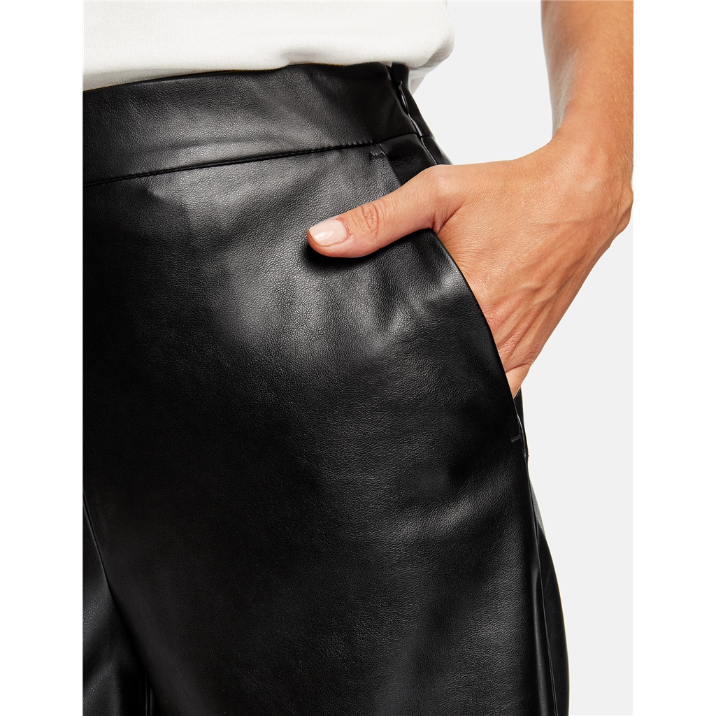 Gerry Weber Faux Leather Culottes - Black