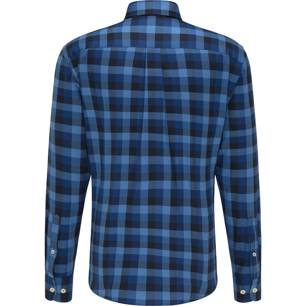 New 2020 Fynch Hatton Supersoft Shirt - Blue Check