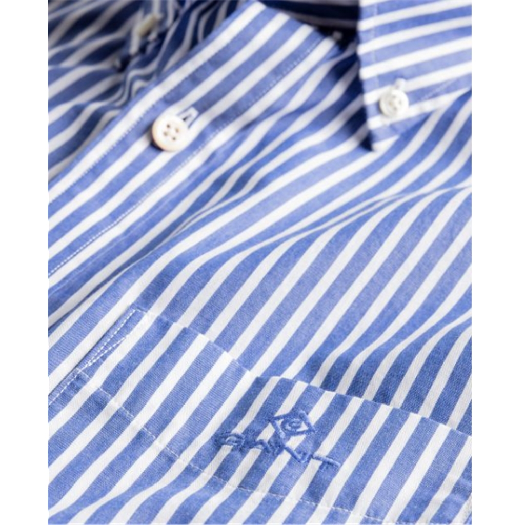 New 2020  Gant Regular Fit Broadcloth Striped Shirt