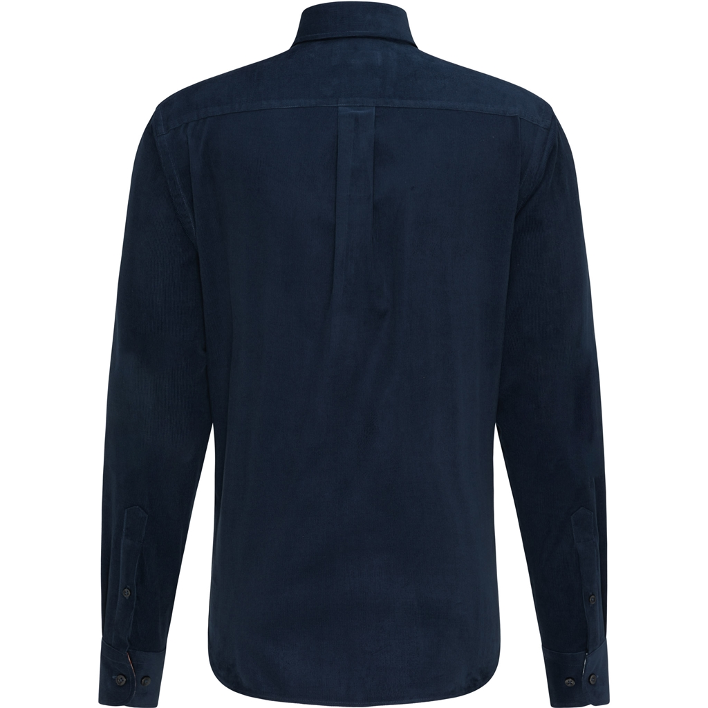 New 2020 Fynch Hatton Supersoft Cotton Corduroy Shirt - Navy